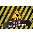 road works background vector image vector image