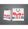 Sale design with shopping bags vector image vector image