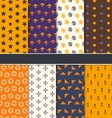Set Seamless Patterns for Happy Halloween vector image vector image