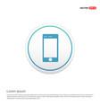 smartphone icon hexa white background icon vector image vector image