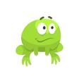 Smiling Hopeful Big-Eyed Green Frog Funny vector image