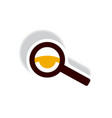 stylish icon in paper sticker style eyesight check vector image vector image