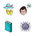 travel education and other web icon in cartoon vector image vector image