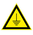 triangular sign grounding electrical equipment vector image vector image