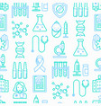 vaccination seamless pattern vector image