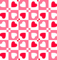valentines day pattern with hearts paper vector image