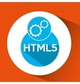 web development gears html5 vector image vector image