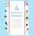 wedding dresses shop poster bridal fashion dress vector image vector image