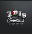 western sahara flag 2019 merry christmas vector image
