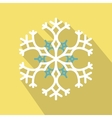 White snowflake flat icon vector image vector image