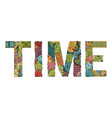 word time decorative zentangle object vector image vector image