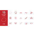 15 line icons vector image vector image