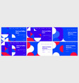 abstract colorful landing page template set vector image vector image