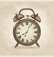 alarm clock in retro style vintage watch dial vector image