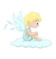 Angel on the cloud vector image vector image