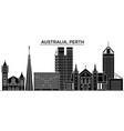 australia perth architecture city skyline vector image vector image