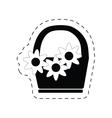 basket flower decoration ornament pictogram vector image