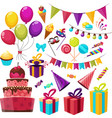 Birthday Party Icon Set vector image vector image