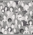 black and white bw people silhouettes vector image vector image