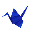 blue low poly origami vector image vector image