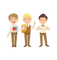 Boys In Brown Outfits Happy Schoolkids In Similar vector image vector image