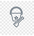 bucket toy concept linear icon isolated on vector image