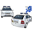bulgary police car vector image vector image