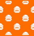 burger pattern orange vector image vector image