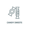 candy sweets line icon candy sweets vector image vector image