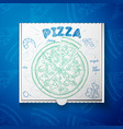 cardboard box with pizza shrimp vector image vector image