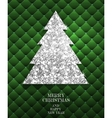 Christmas gold Greeting Card vector image