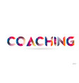 coaching colored rainbow word text suitable for