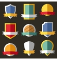 coats arms shields ribbons vector image