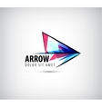 colorful arrow logo icon vector image vector image