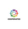 colorful community logo design symbol vector image