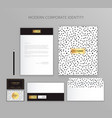 corporate identity business set modern stationery vector image
