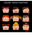 create a square avatar girl emotions vector image