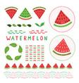 cute watermelon clipart set vector image