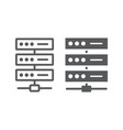 data network line and glyph icon vector image vector image