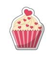 delicious sweet cupcake icon vector image vector image
