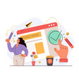 digital user agreement document confirm website vector image