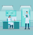 doctors in medical office physician vector image