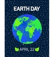 Earth Day card vector image vector image