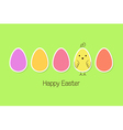 Easter eggs and baby bird vector image vector image