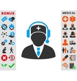 Emergency Manager Icon vector image vector image
