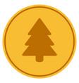 fir-tree gold coin vector image