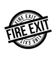 fire exit rubber stamp vector image