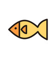 fish icon isolated on white background from vector image