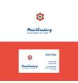 flat cloud setting logo and visiting card vector image vector image