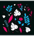 floral ornament - modern flat design style vector image